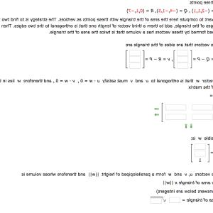 Two Orthogonal Vectors: Given Three Points D Want Compute Area Triangle Points Vertices Strategy Find Two Vectors Q