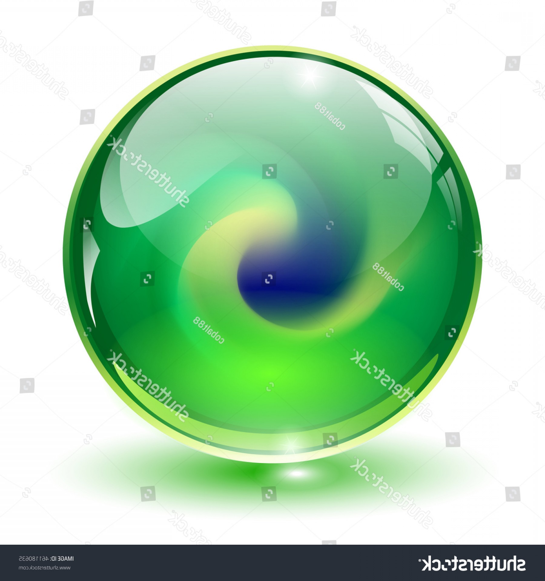 Vector Sphere Marble: Glass Sphere Green Vector D Marble