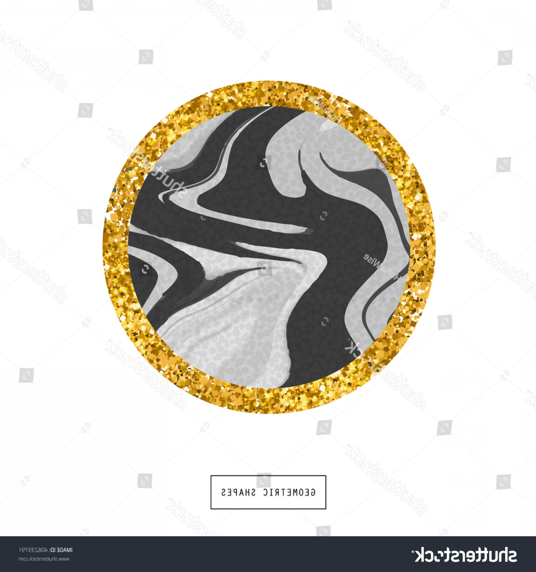Vector Sphere Marble: Glitter Circle Isolated Marble Texture Geometric