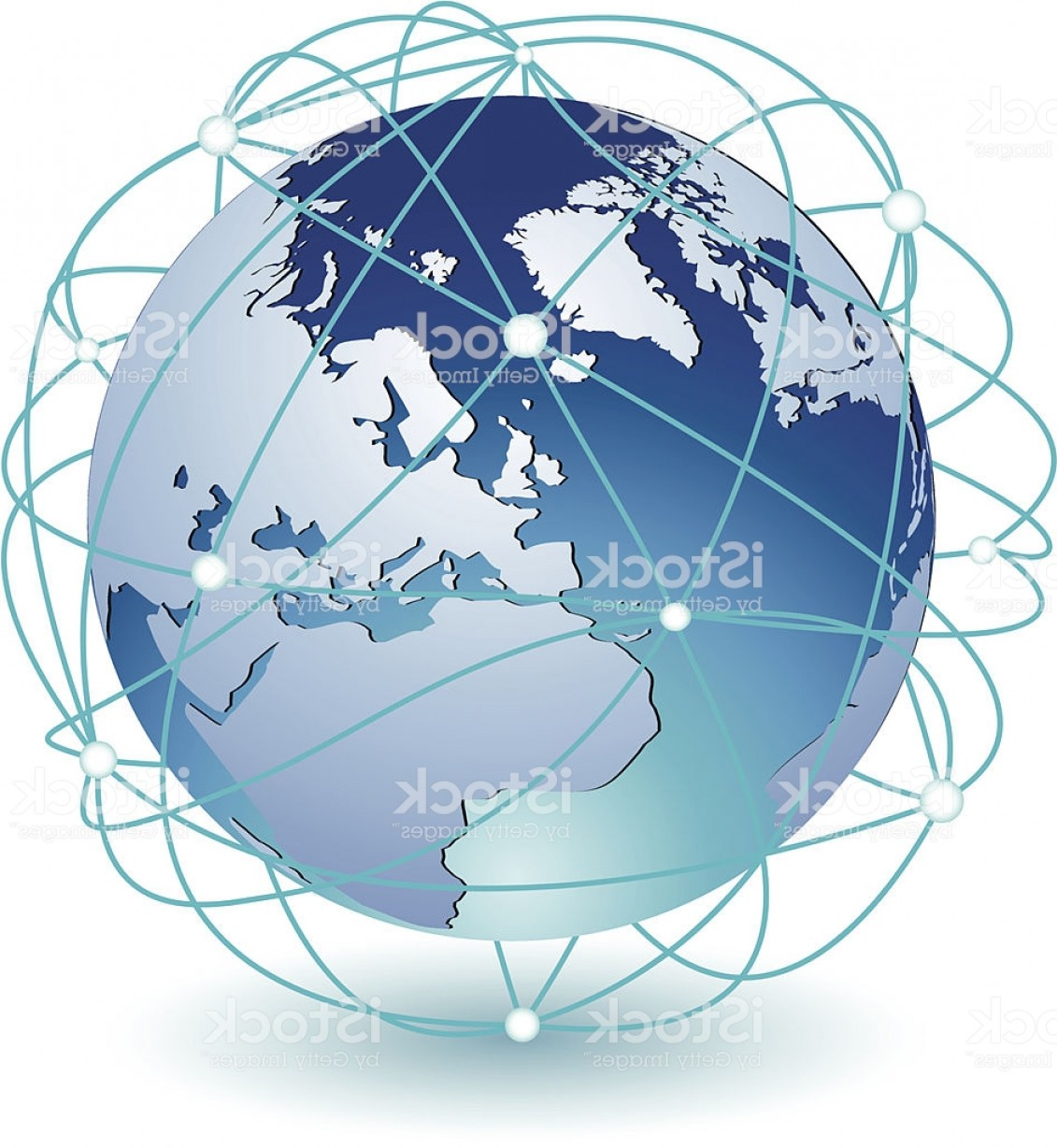 Abstract Vector Art Globe TV: Global Connection Icon Eps Gm