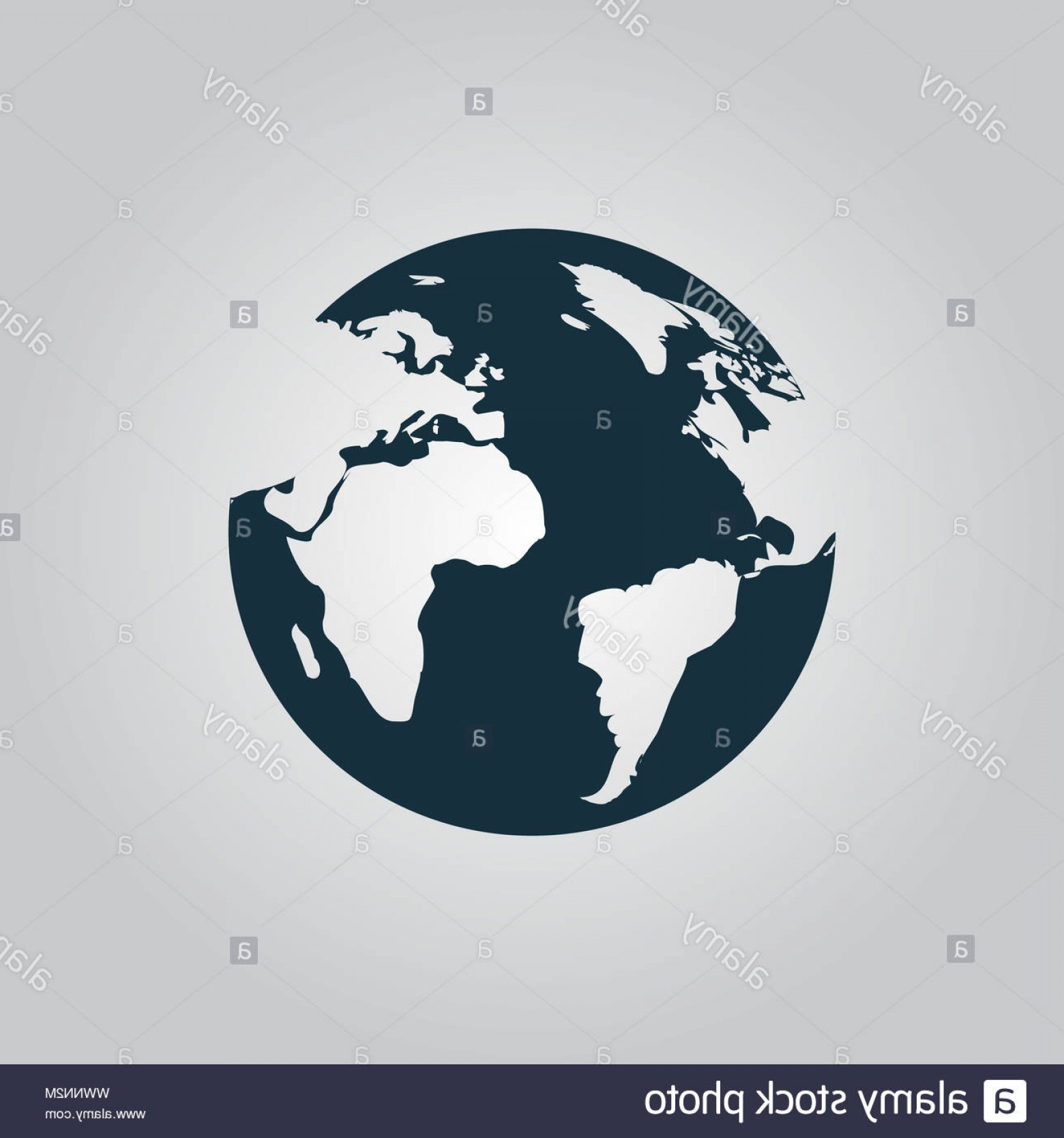 Erth Vector: Globe Earth Vector Icons On Grey Background Image
