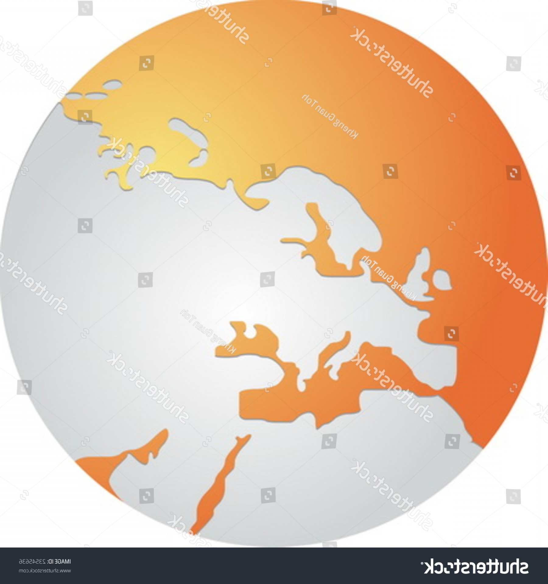 Vector Globe Countries: Globe Map Illustration Europe Continent Countries