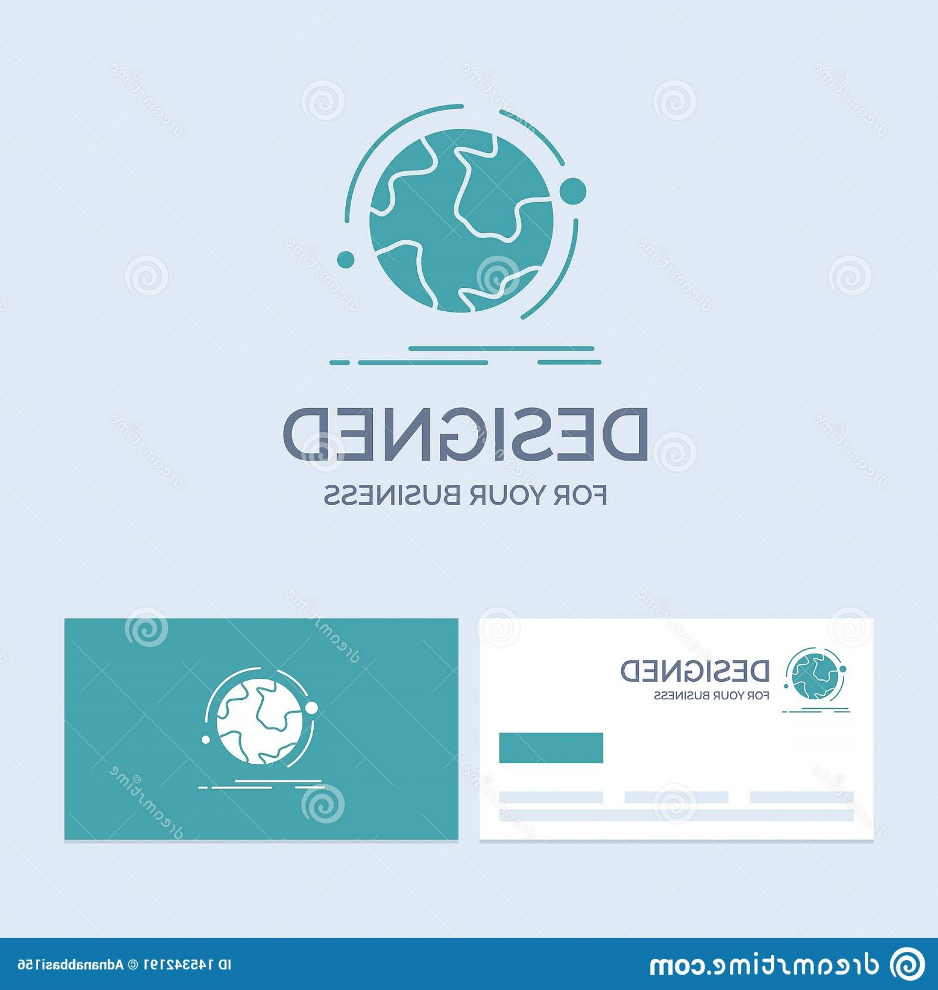 Discover Logo Vector: Globe World Discover Connection Network Business Logo Glyph Icon Symbol Your Turquoise Cards Brand Template Vector Eps Image