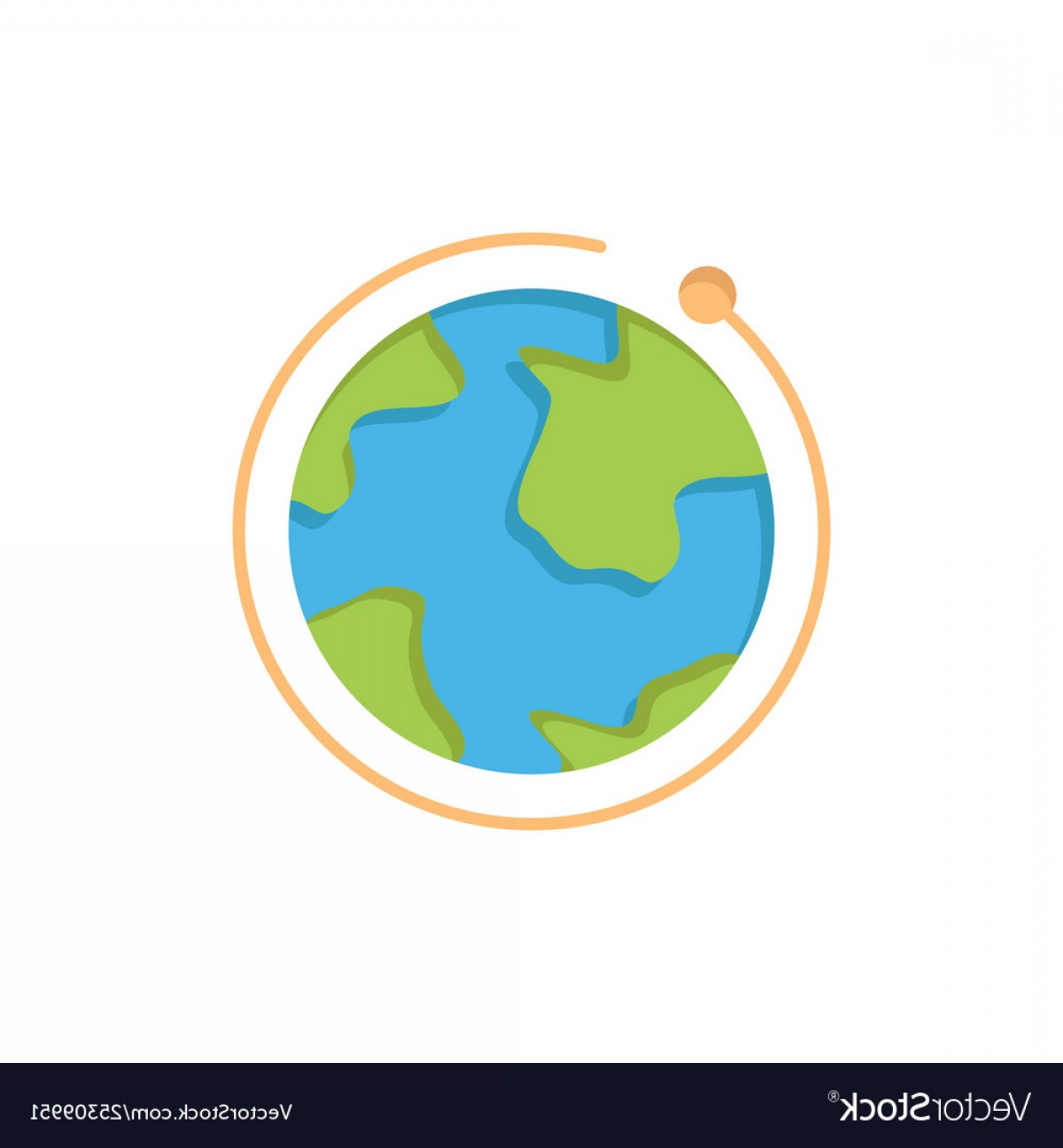 One Color Simple Vector Globe: Globe World Internet Hotel Flat Color Icon Icon Vector