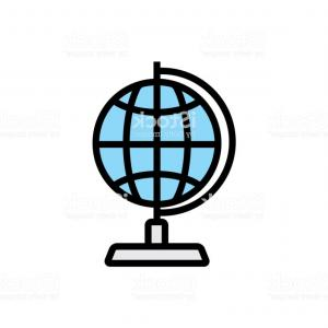 Abstract Vector Art Globe TV: Abstract Digital World Globe Logo Template Vector