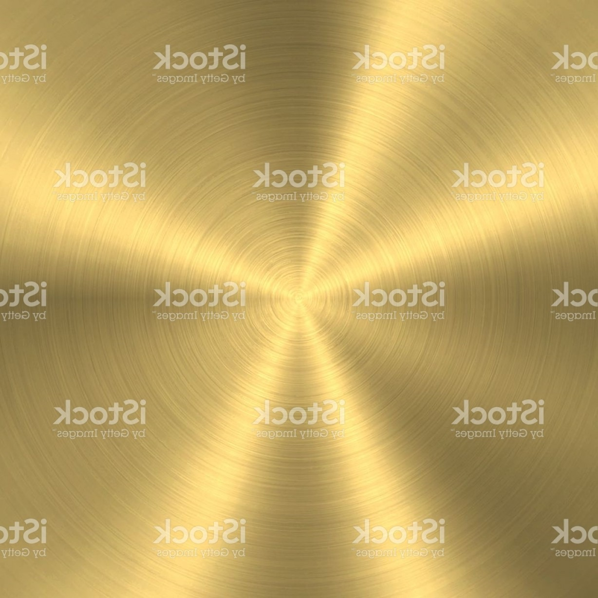 Sheet Metal Effect Vector: Gold Background Circular Brushed Metal Texture Gm