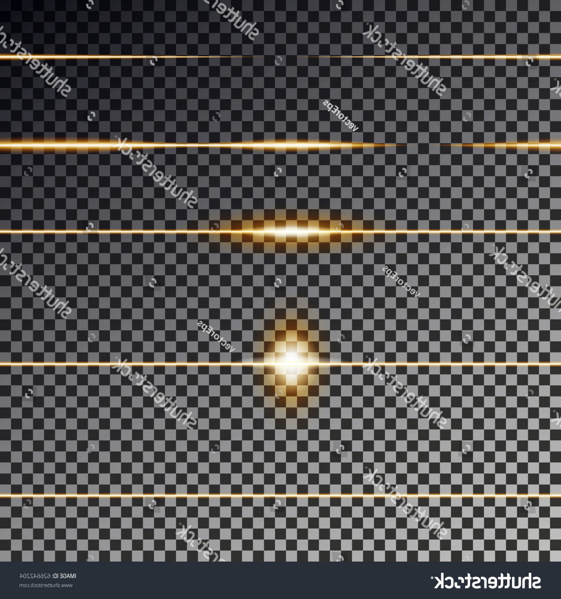 Vector Line Dividers Transparent Backgrounds: Gold Divider Light Line Isolated On