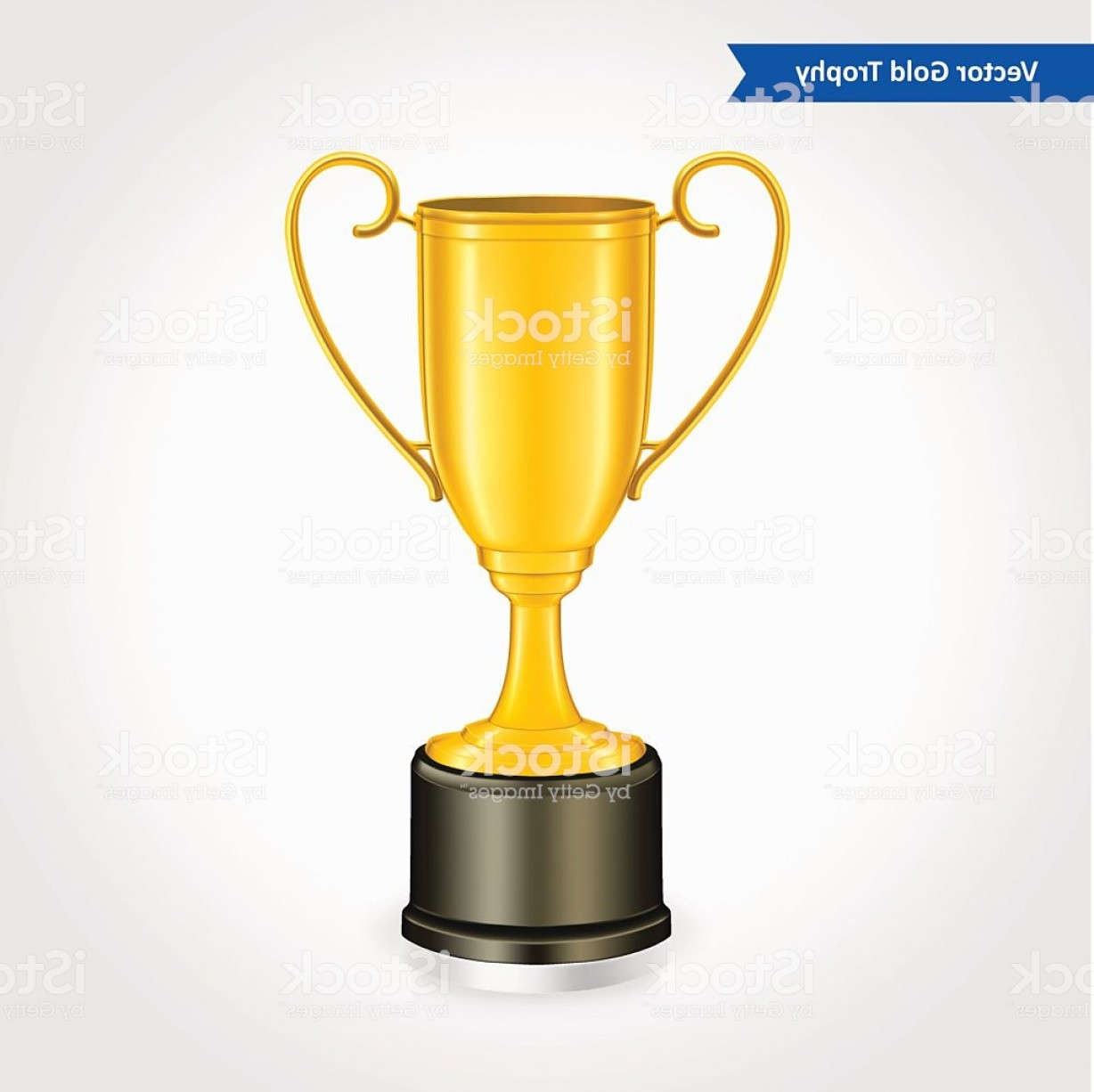 Gold Trophy Vector: Gold Trophy Vector Illustration Gm