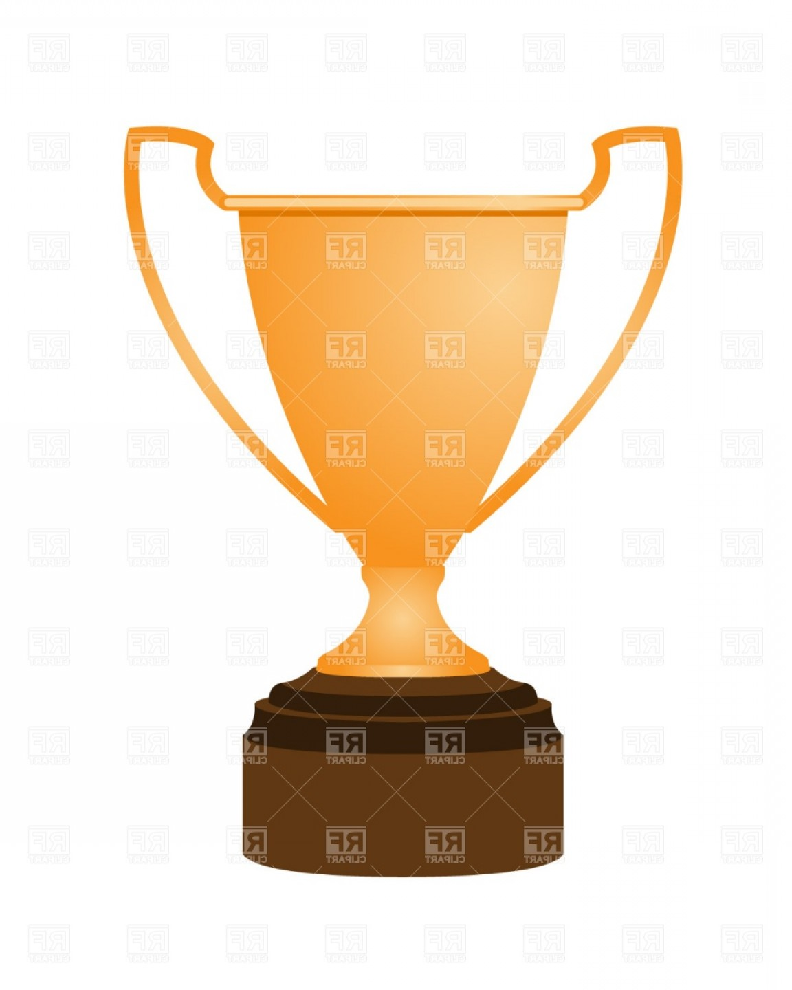Gold Trophy Vector: Gold Trophy World Cup Vector Clipart
