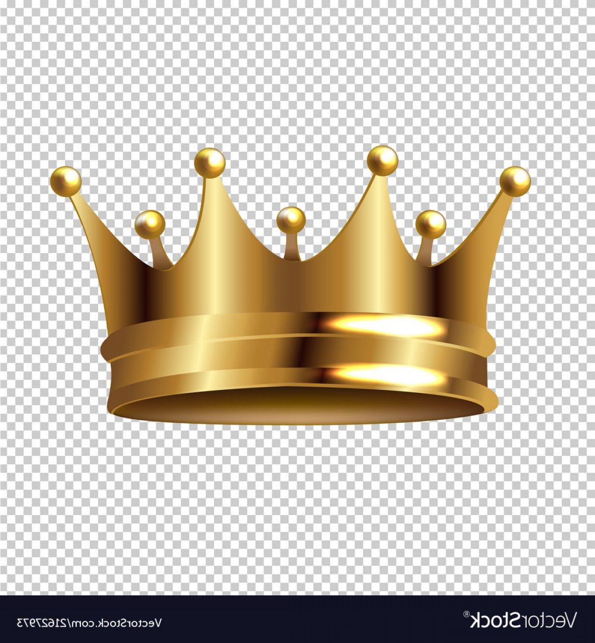 Transparent Queen Crown Vector: Golden Crown Isolated Transparent Background Vector