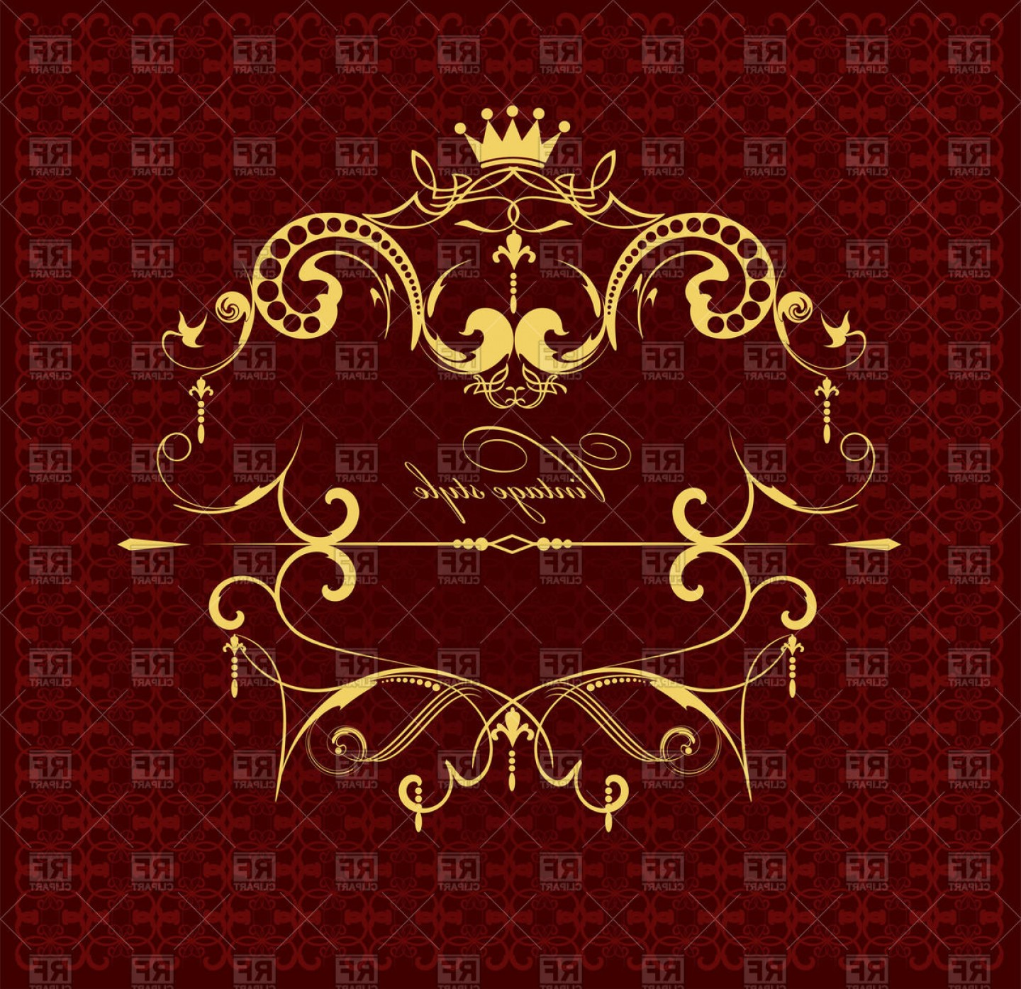 Gold Ornate Borders Vector: Golden Ornate Royal Frame Elegant Victorian Ornament Vector Clipart