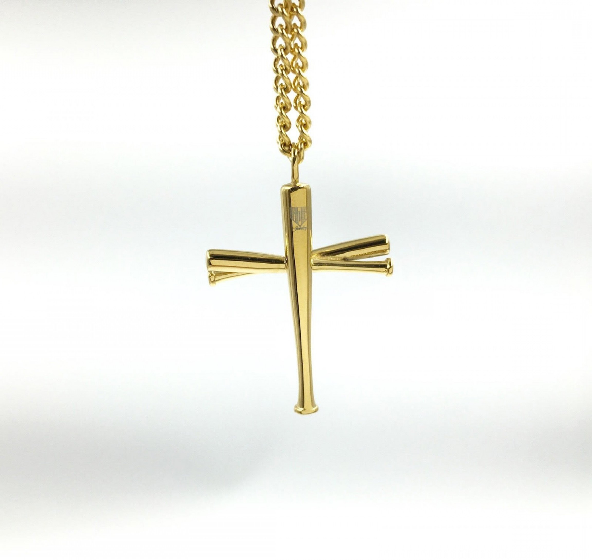 necklace gold lux of accessories red tone baseball p picture cross s pendant wide charm