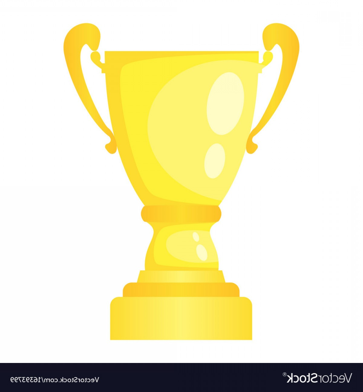 Gold Trophy Vector: Golden Trophy Champion Cup Vector