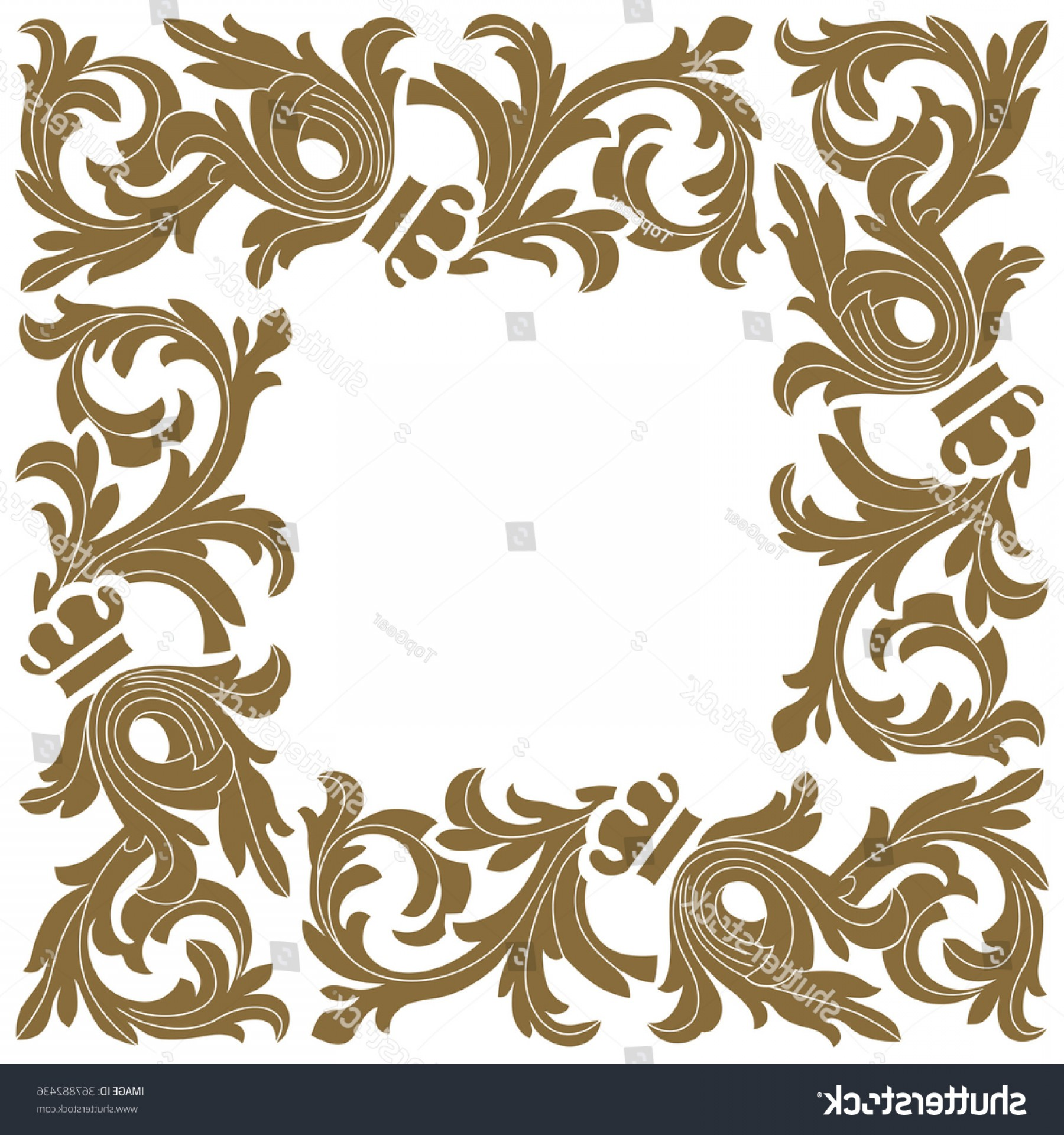 Filigree Oval Frame Vector: Golden Vintage Baroque Frame Scroll Ornament
