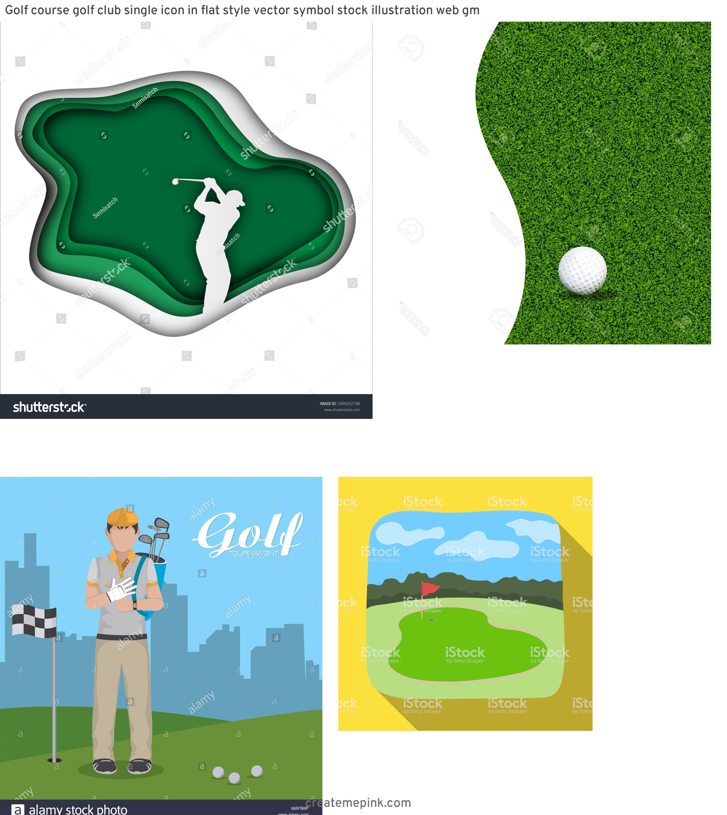 Golf Course Vector Art: Golf Course Golf Club Single Icon In Flat Style Vector Symbol Stock Illustration Web Gm
