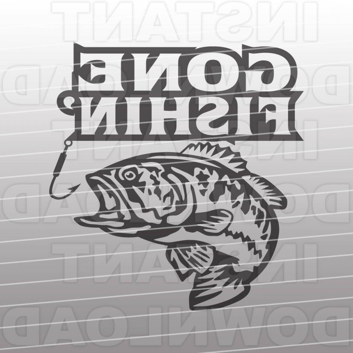 Vector Fishing Decals: Gone Fishin Svg Filebass Fishing Svg