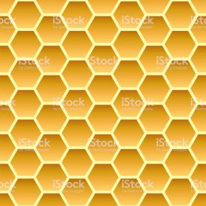 Vector Of Honey Comb Hive Shape: Gold Honey Hexagonal Cells Seamless Texture Mosaic Or Speaker Fabric Shape Pattern Gm