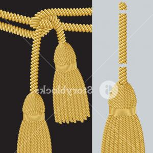 Tassel Vector: Authentic Japanese Paper Lantern With Tassel Vector