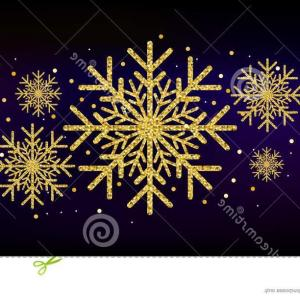 Glitter Snowflake Vector: Golden Glitter Gorgeous Snowflake Luxurious Christmas Design Element Dust Sparkles Vector Illustration Image