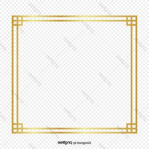 Wind Vector Field: Golden Gradient Border Design For Chinese Wind Border