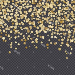 Lights Vector Overlay: Golden Lights Isolated On Dark Transparency Grid Background Festive Vector Overlay Decorative Element Border Or Frame Design Image