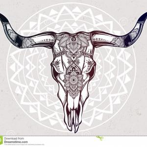 Cow Skull Vector Clip Art: Good Longhorn Skull Tattoo Of The Day