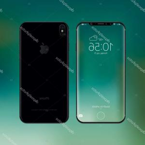 IPhone 8 Vector Front Back: Comfortable Stock Photo Apple Iphone Plus Silver