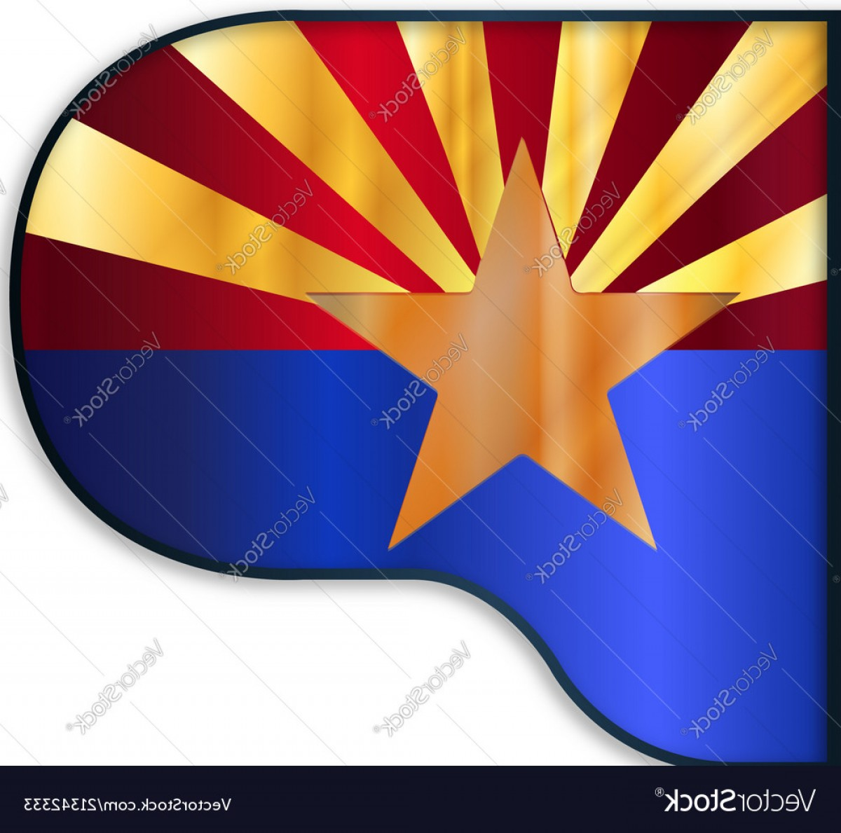 Arizona Flag Vector: Grand Piano Arizona Flag Vector
