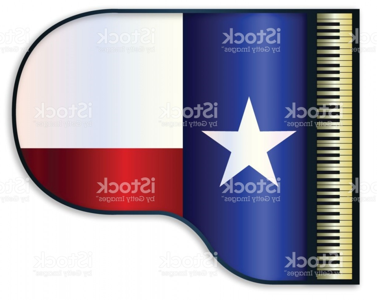 Texas Flag Vector Art: Grand Piano Texas Flag Gm