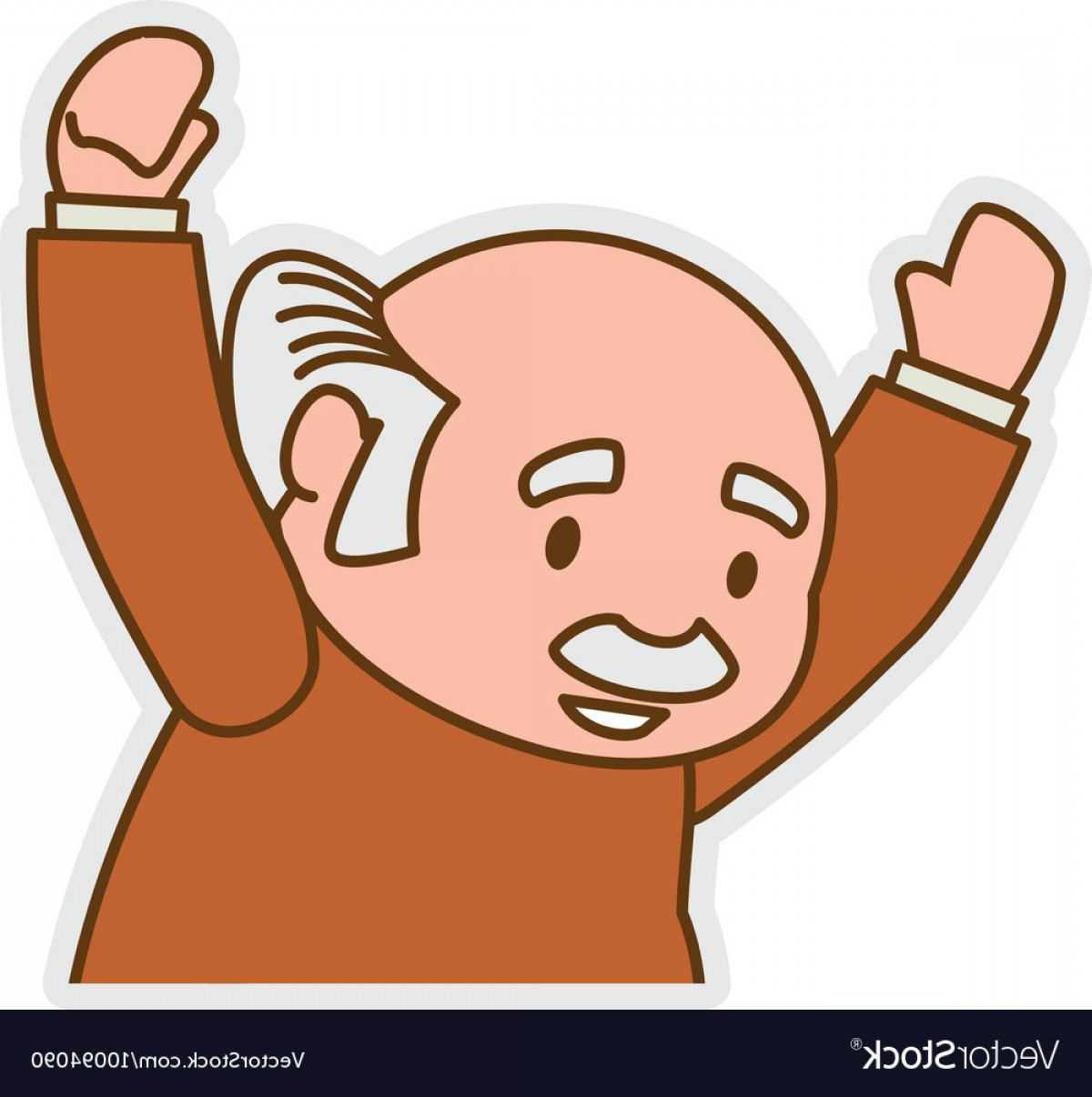 Old Male Icon Vector: Grandfather Old Person Man Male Icon Vector