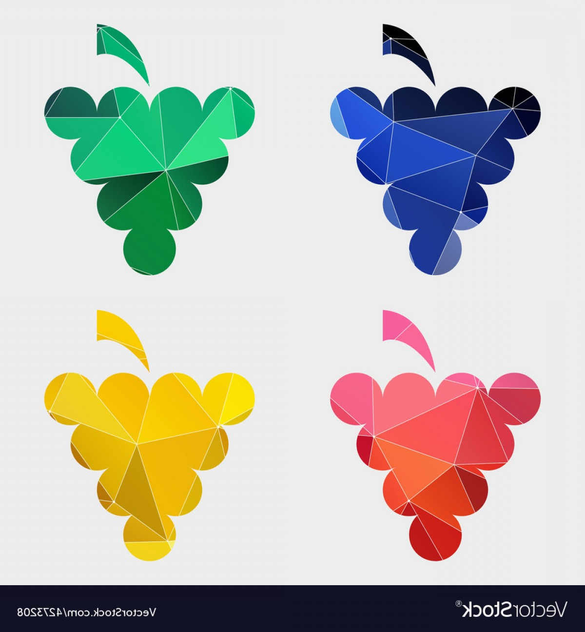 Abstract Vector Grapes: Grapes Icon Abstract Triangle Vector