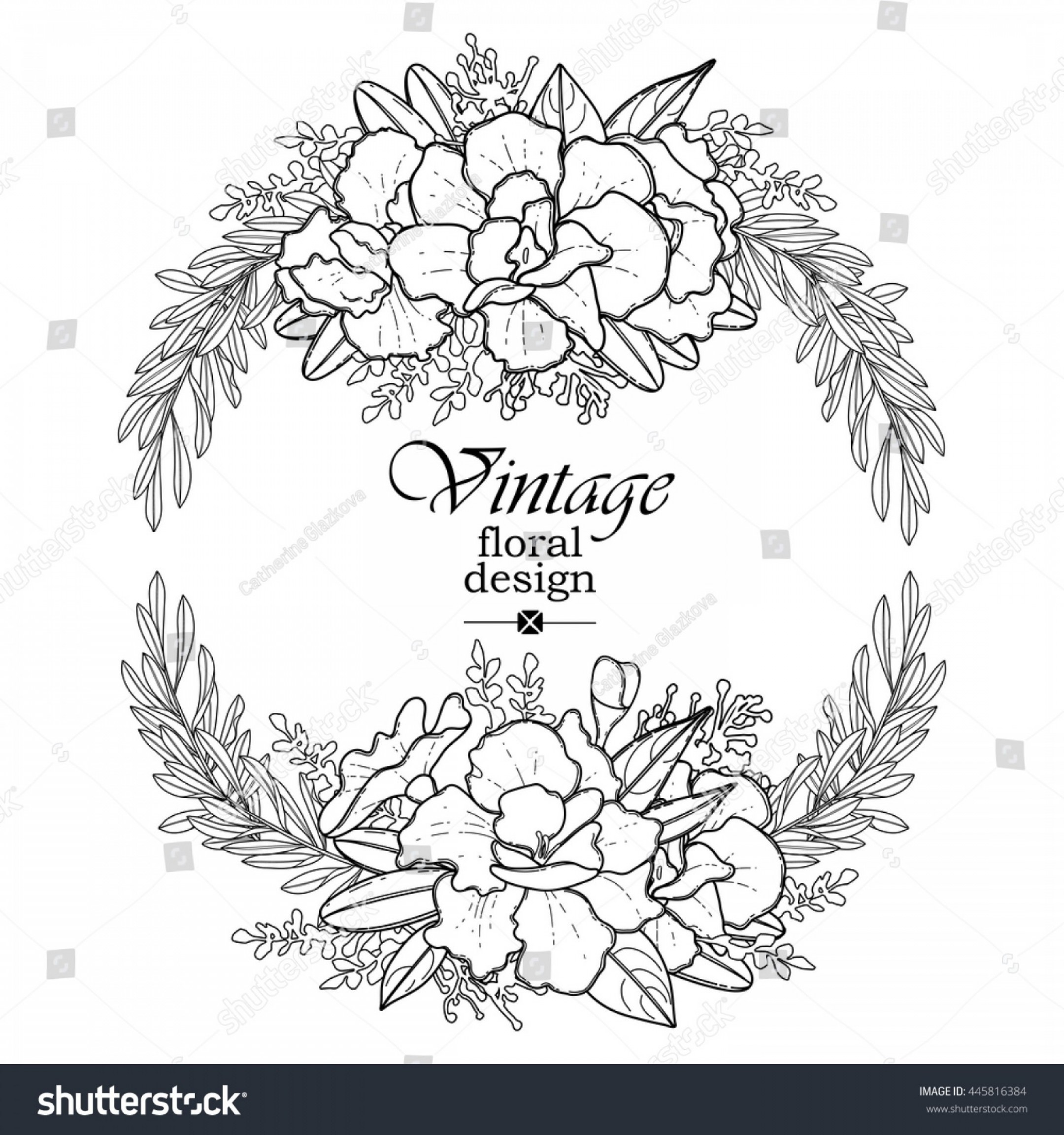 Half Leaf Wreath Vector: Graphic Floral Wreath Vector Leaves Flowers