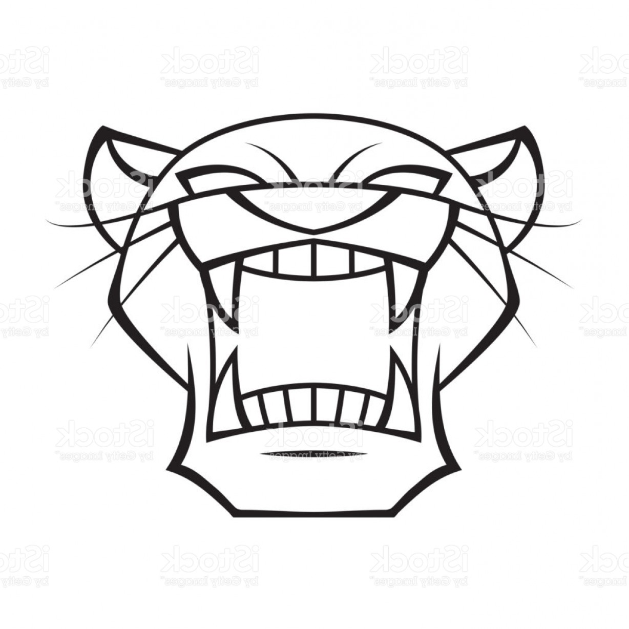 Panther Vector: Graphic Head Panther Vector Gm