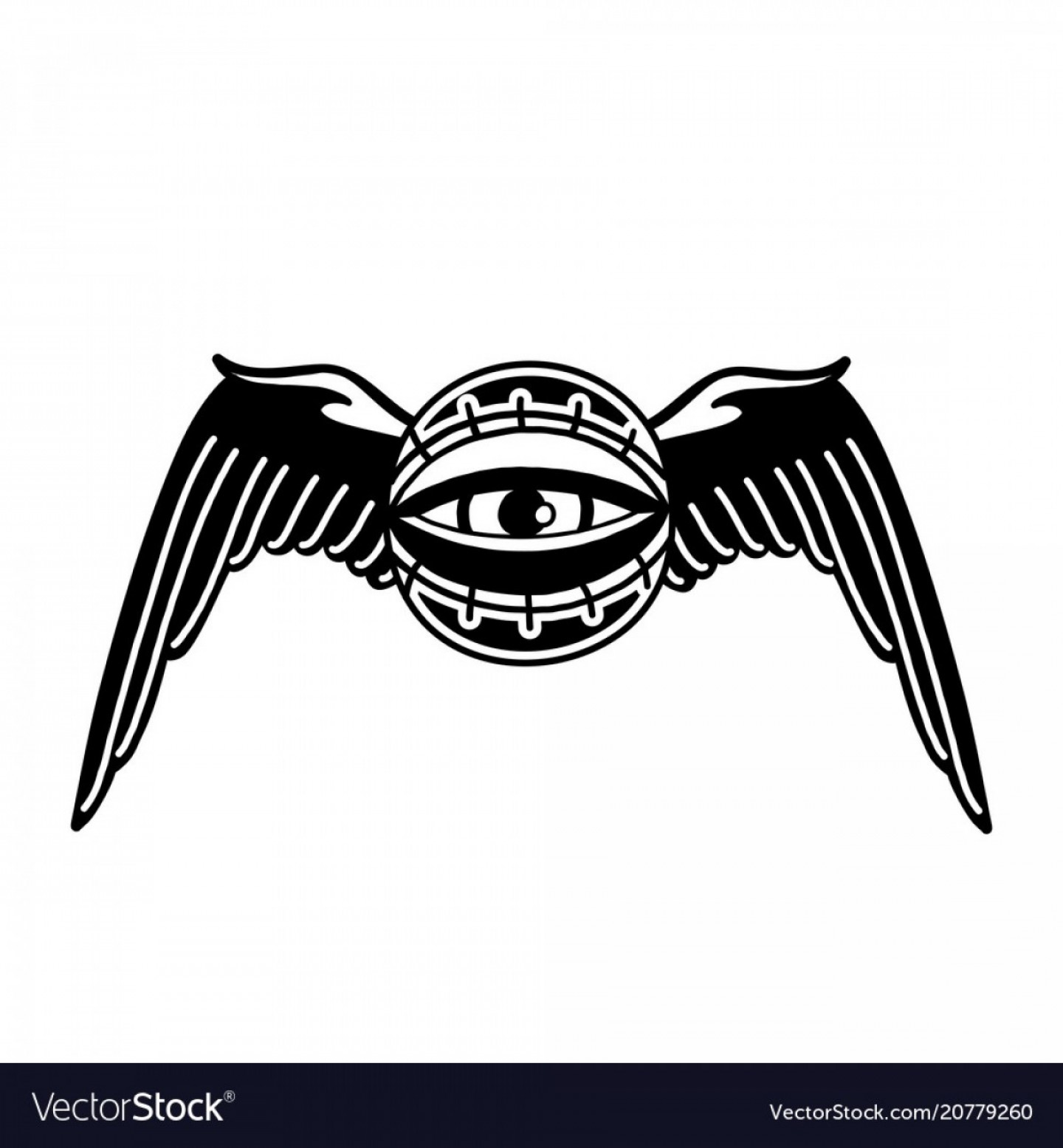 Mislo Toe Vector Art: Graphic Winged All Seeing Eye Vector