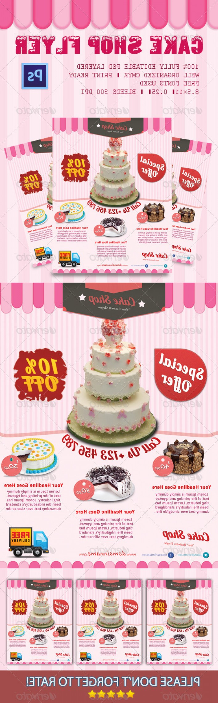 PSD Vector Vintage Cake: Graphics With Cakes In Print Templates