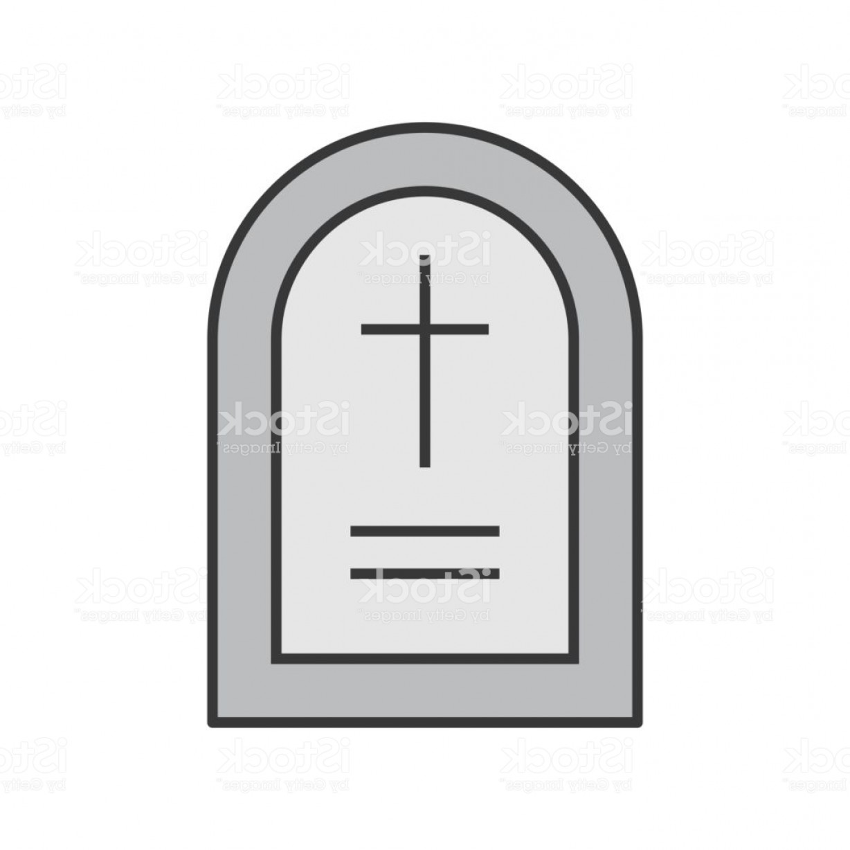 Gravestone Outline Vector: Gravestone Halloween Related Icon Filled Outline Design Editable Stroke Gm
