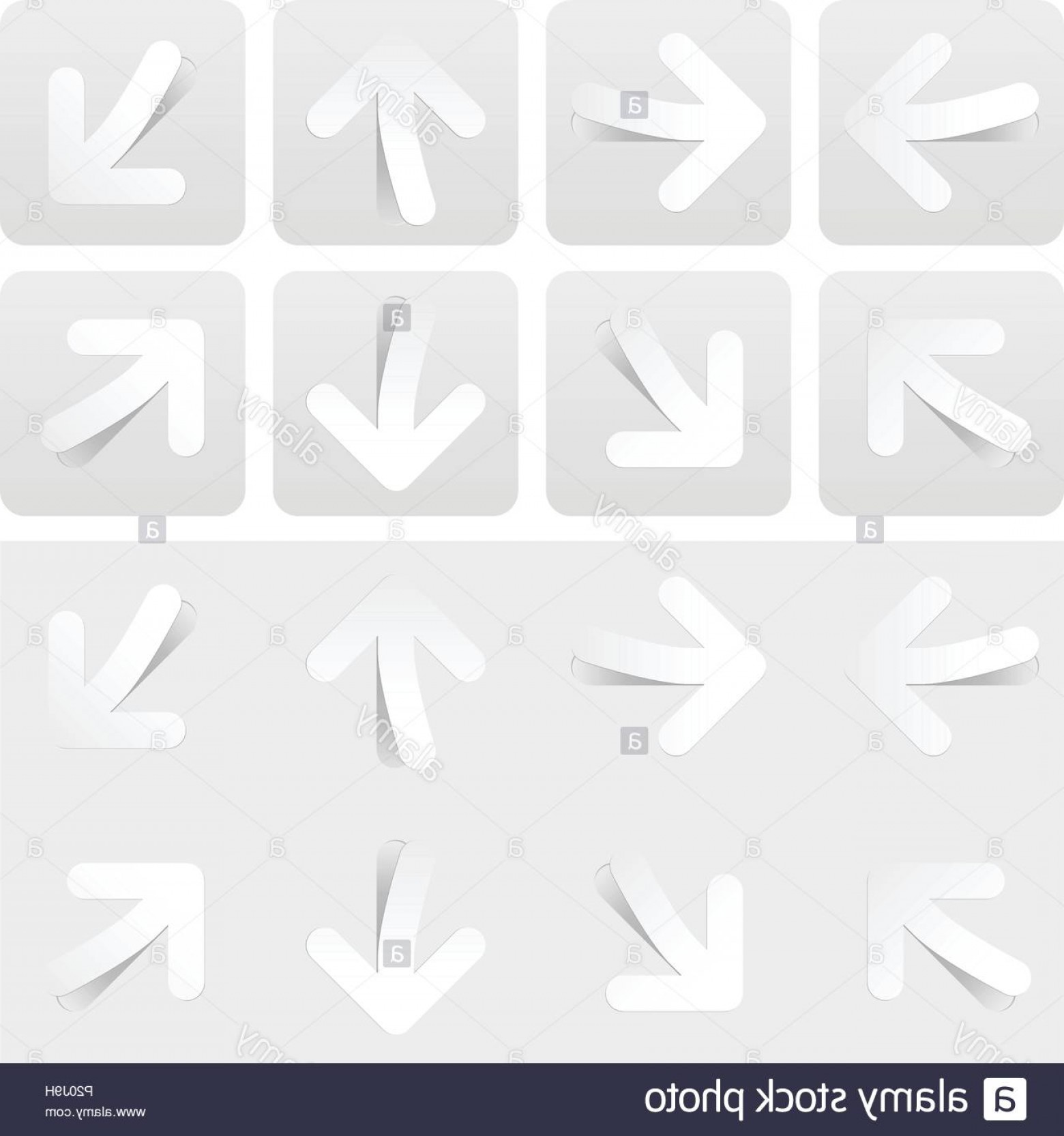 Gray Arrows Vector Art Graphics: Gray Arrow Sign Web Button Icon With Shadow On White Background Image