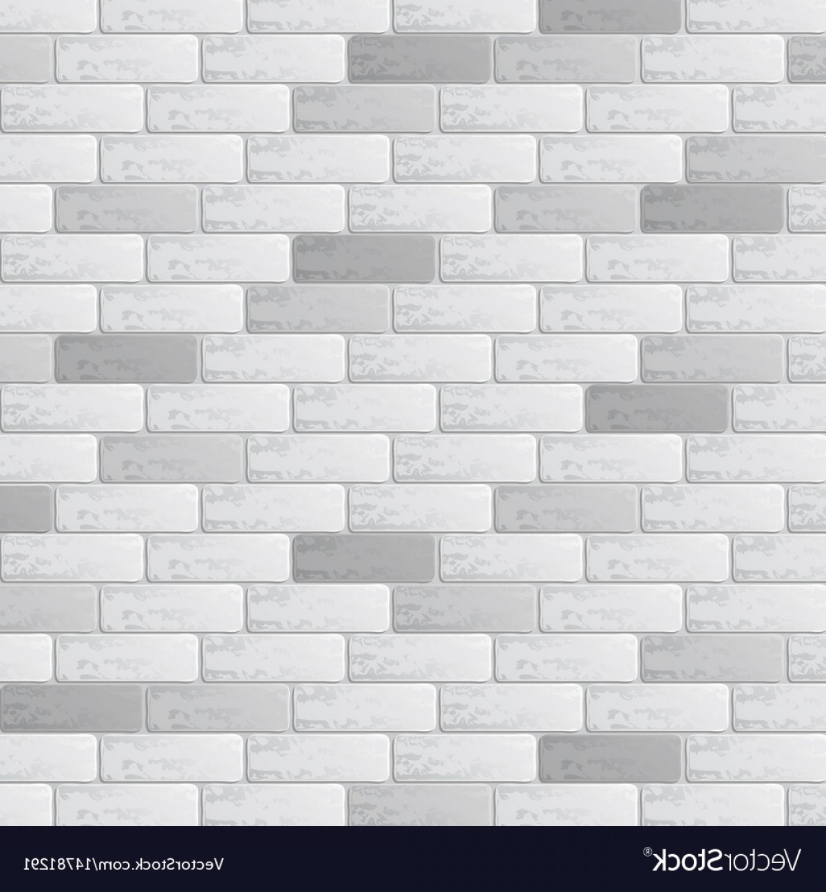 Wall Background Vector: Gray Brick Wall Background Vector
