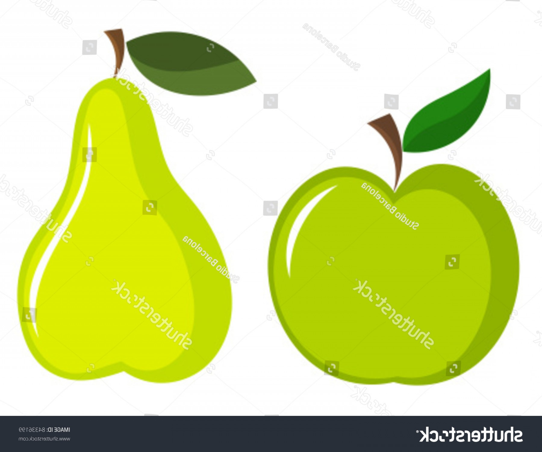 Pear Vector Shutterstock: Green Apple Pear Vector Icons