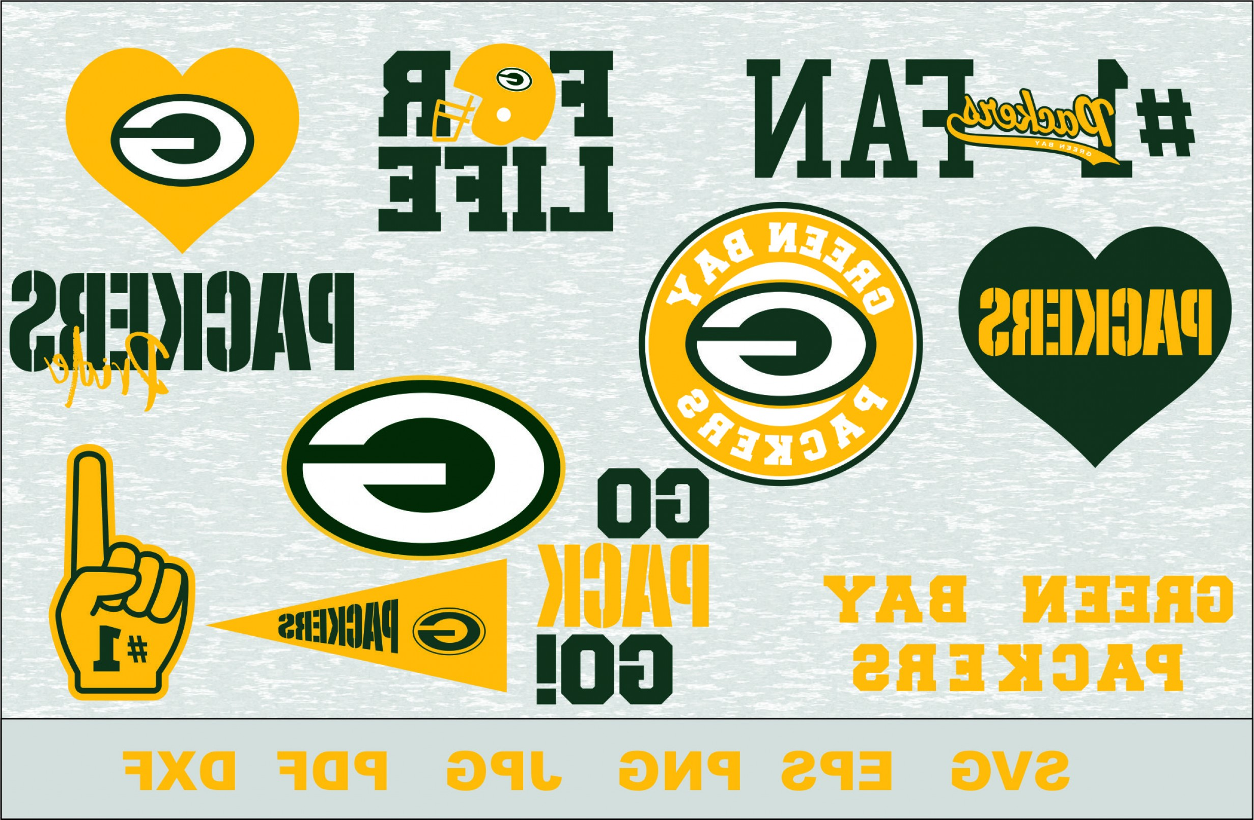Green Bay Vector: Green Bay Packers Silhouette Studio Transfer Iron On Cut File Cameo Cricut Iron On Decal Vinyl Decal Layered Vector