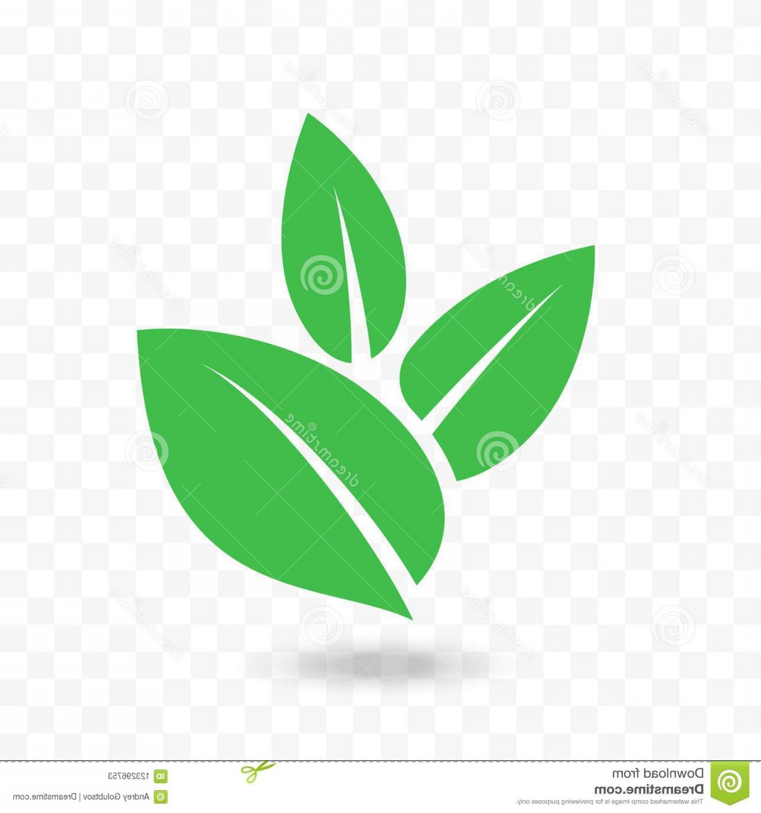 Leaf Vector Logo: Green Leaf Vector Icon Vegan Bio Eco Design Green Leaf Vector Logo Eco Bio Vegan Concept Design Isolated Leaves Icon Image