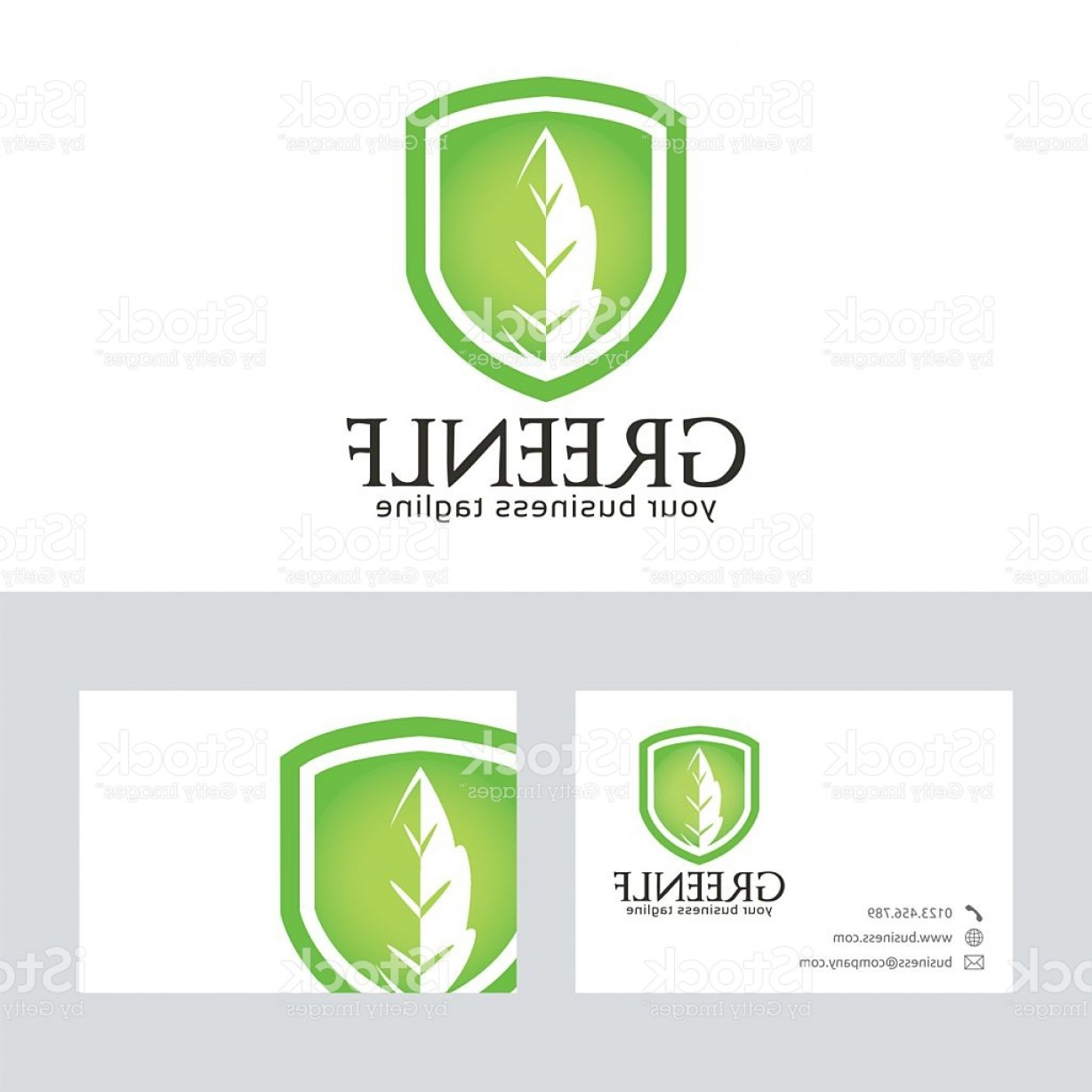 Green leaf vector logo with business card template gm createmepink business vector logos green leaf vector logo with business card template gm colourmoves
