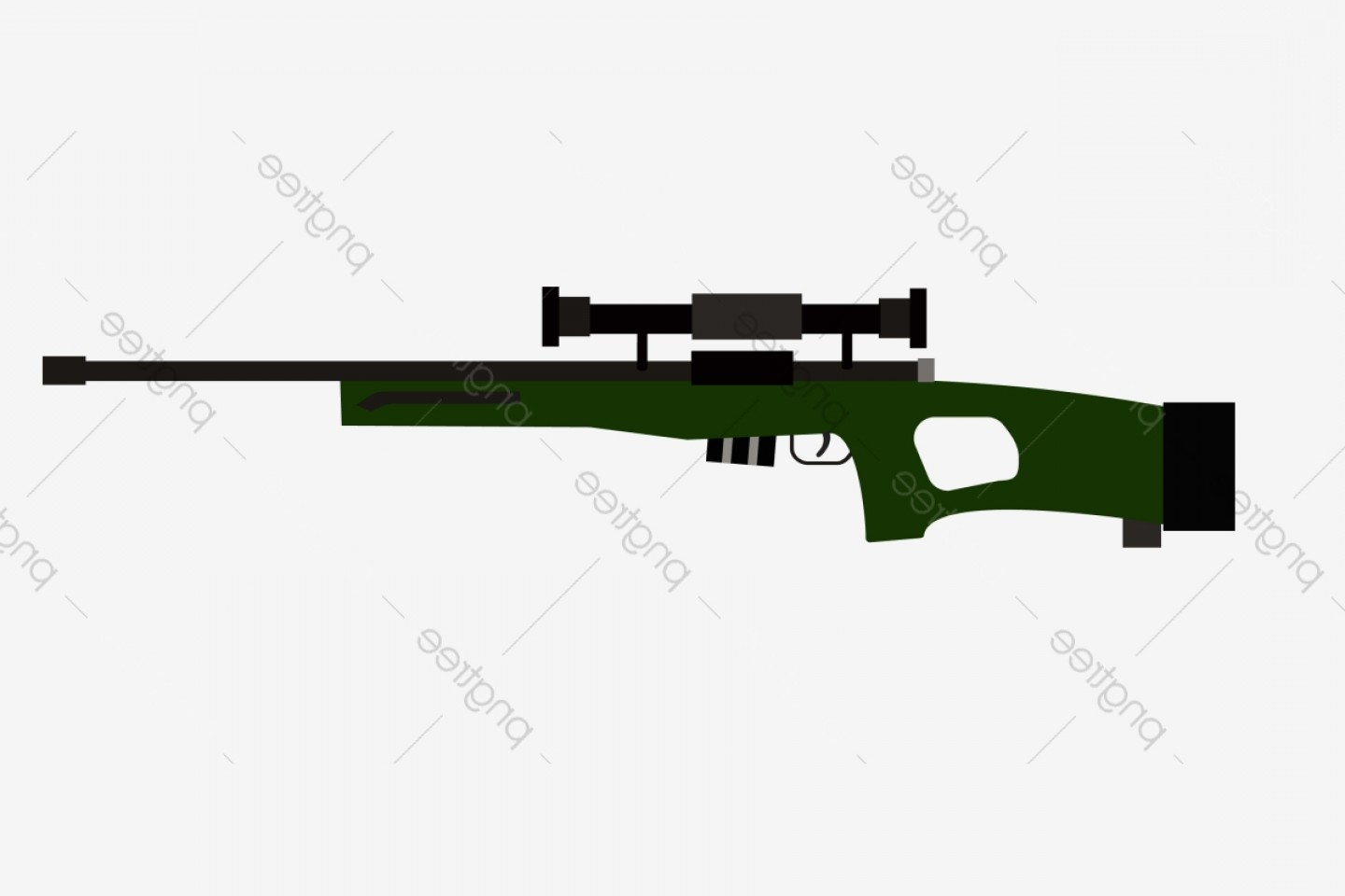 Us Special Forces Vector Files: Green Pistol Special Forces Gun Cartoon Illustration Hand Drawn Rifle Illustration