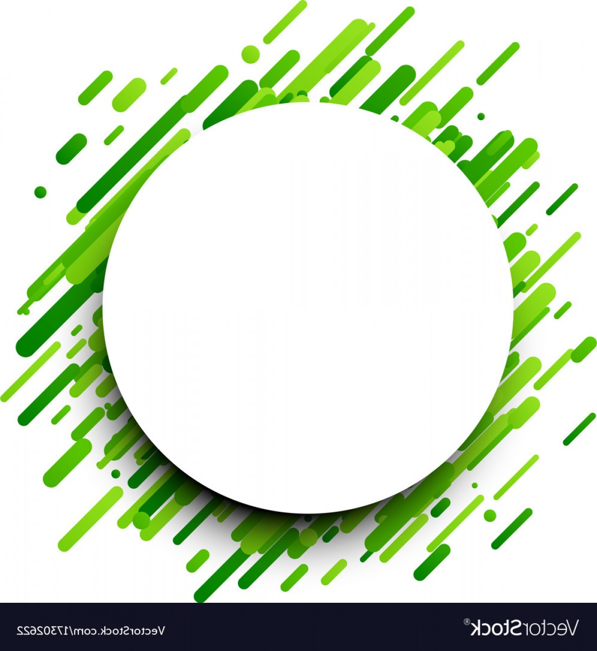 Green And White Vector: Green Round Background On White Vector