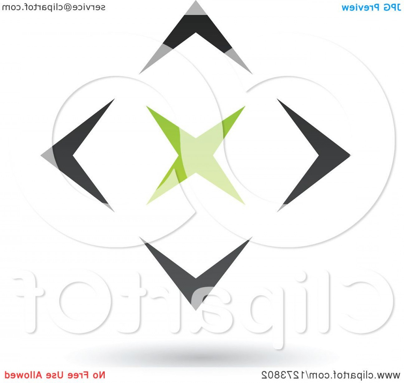 Black Diamond Vector Clip Art: Green Star In A Black Diamond And Shadow