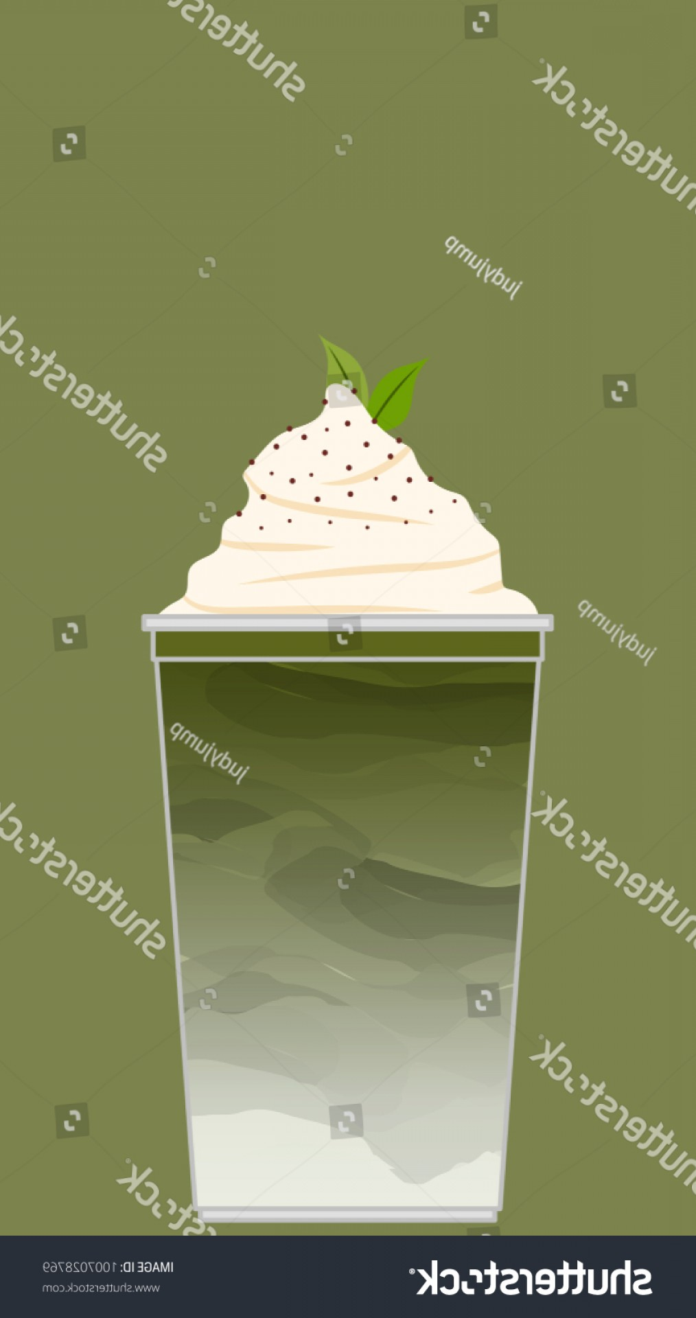 Snow Cone Vector Free: Green Tea Milk Vector Free Space