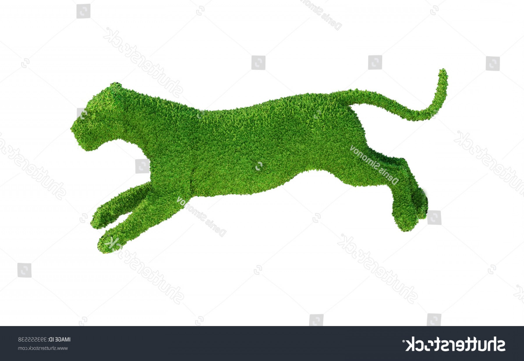 Green Tiger Vector: Green Tiger Grass Render D