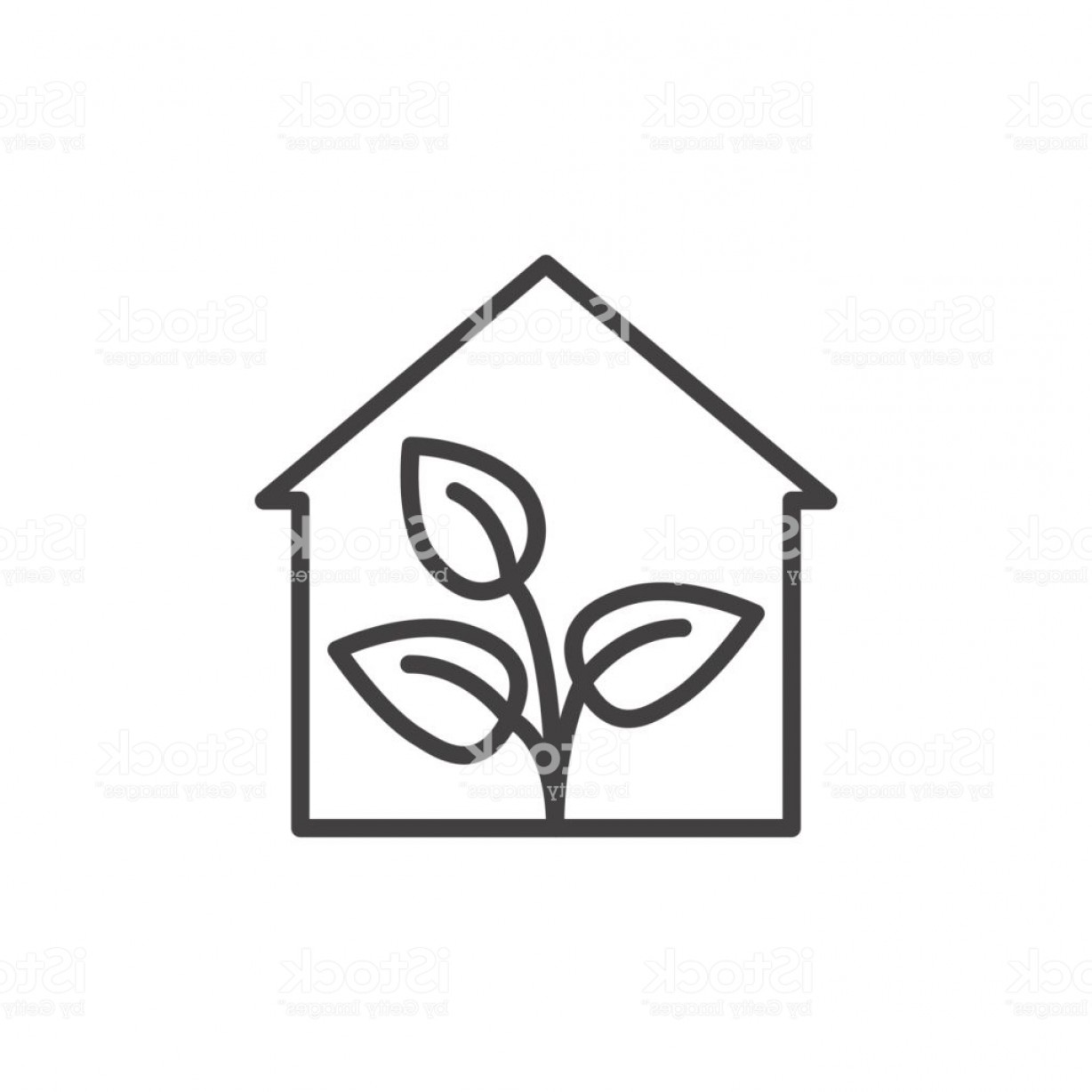 Black And White Vector Greenhouse: Greenhouse Line Icon Outline Vector Sign Linear Style Pictogram Isolated On White Gm