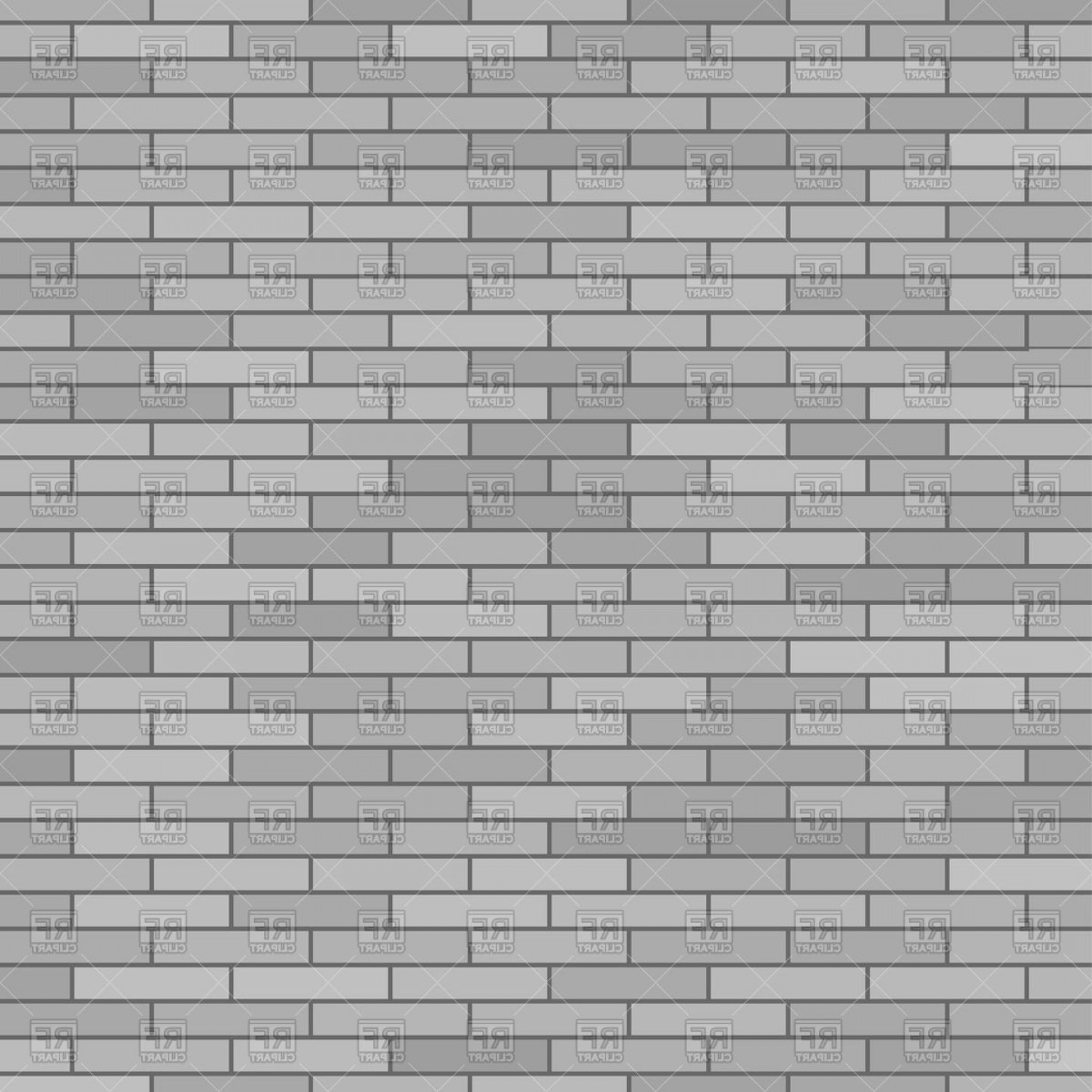 Wall Background Vector: Grey Brick Wall Background Vector Clipart