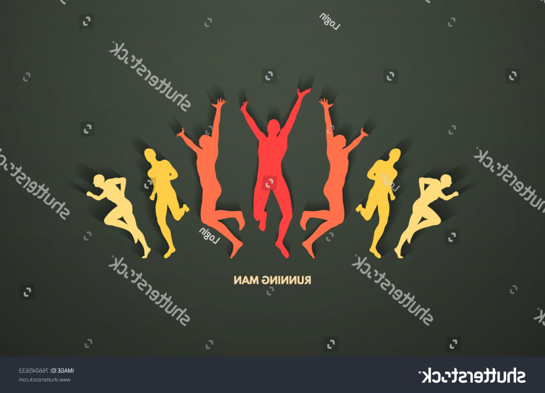 Shutterstock Vector Design With Runner: Group Runners Design Sport Business Concept